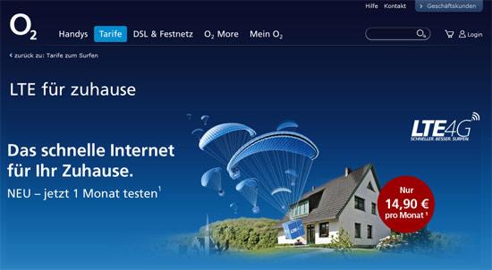 o2 LTE, Screenshot: lteanbieter.com